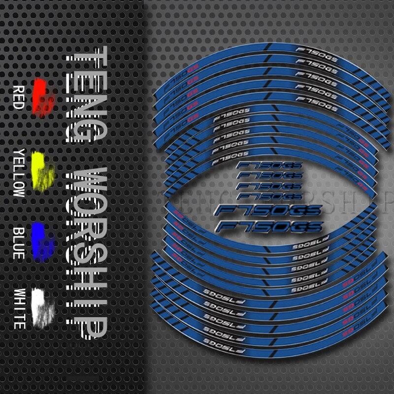 Для BMW F750GS мотоцикл шины 20X наклейка внутренний обод Светоотражающие Украшение