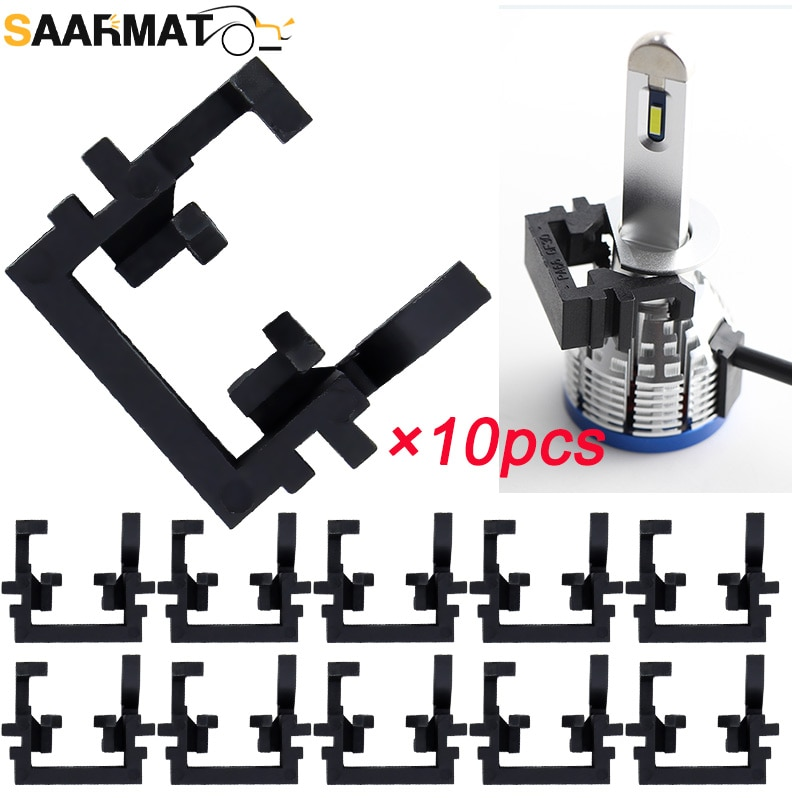 SAARMAT 10pcs/Lot H1 Holder For Ford Focus More Lamp Holder H7 Led Adapter Adaptador H4 from Car Acc