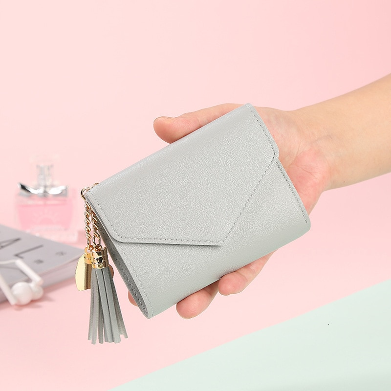 Small Wallet Hot Sale Women's Coin Purse Short Student Cute Mini Coin Bag Keychain Small Bag Coin Wallets