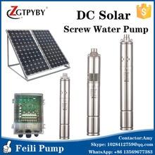 3FLS2.3/160-D72/1000C dikey santrifüj pompa güneş su pompası makineleri max kafa 160m dc 72v 0.75 inç güneş vidalı pompalar