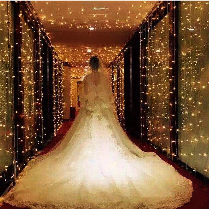 3x3 متر 300 LED الجنية ستارة خيوط مضيئة التحكم الذاكرة جارلاند أضواء لعيد الميلاد حفلة صالون المنزل نافذة الديكور في الهواء الطلق
