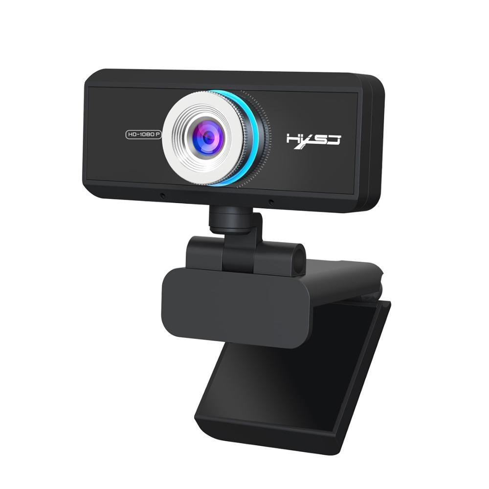 Cámara de computadora de enfoque manual 1080P HD webcam cámara de videoconferencia giratoria de 360 grados para transmisión en vivo de clase en línea
