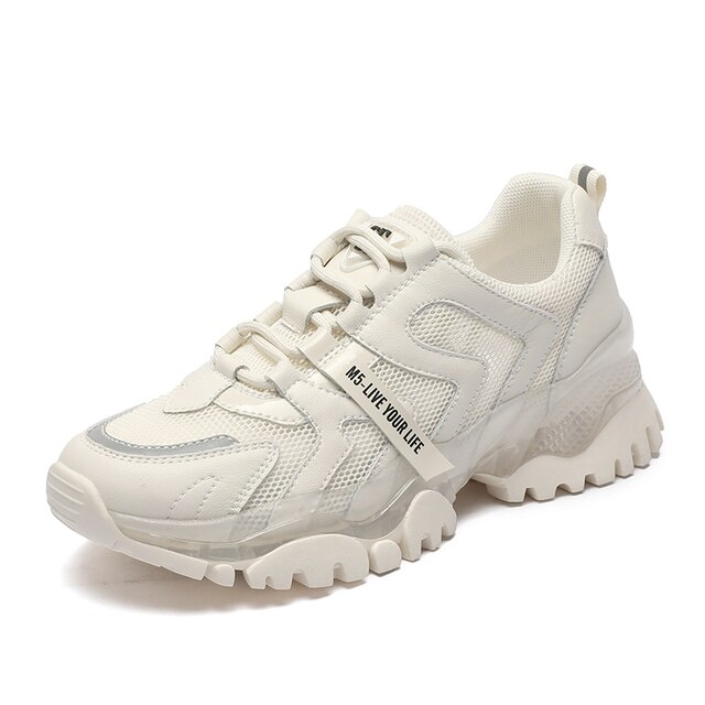 AIYUQI Women's Sneakers 2021 Summer New Single Mesh Platform Casual Shoes Ladies Korean Student Shoes Girl 2