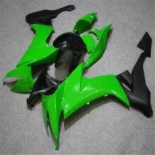 Kit de car15ages de carrosserie gratuit   Pour Kawasaki 2008 2009 2010 vert noir NINJA ZX10R 08 09 10