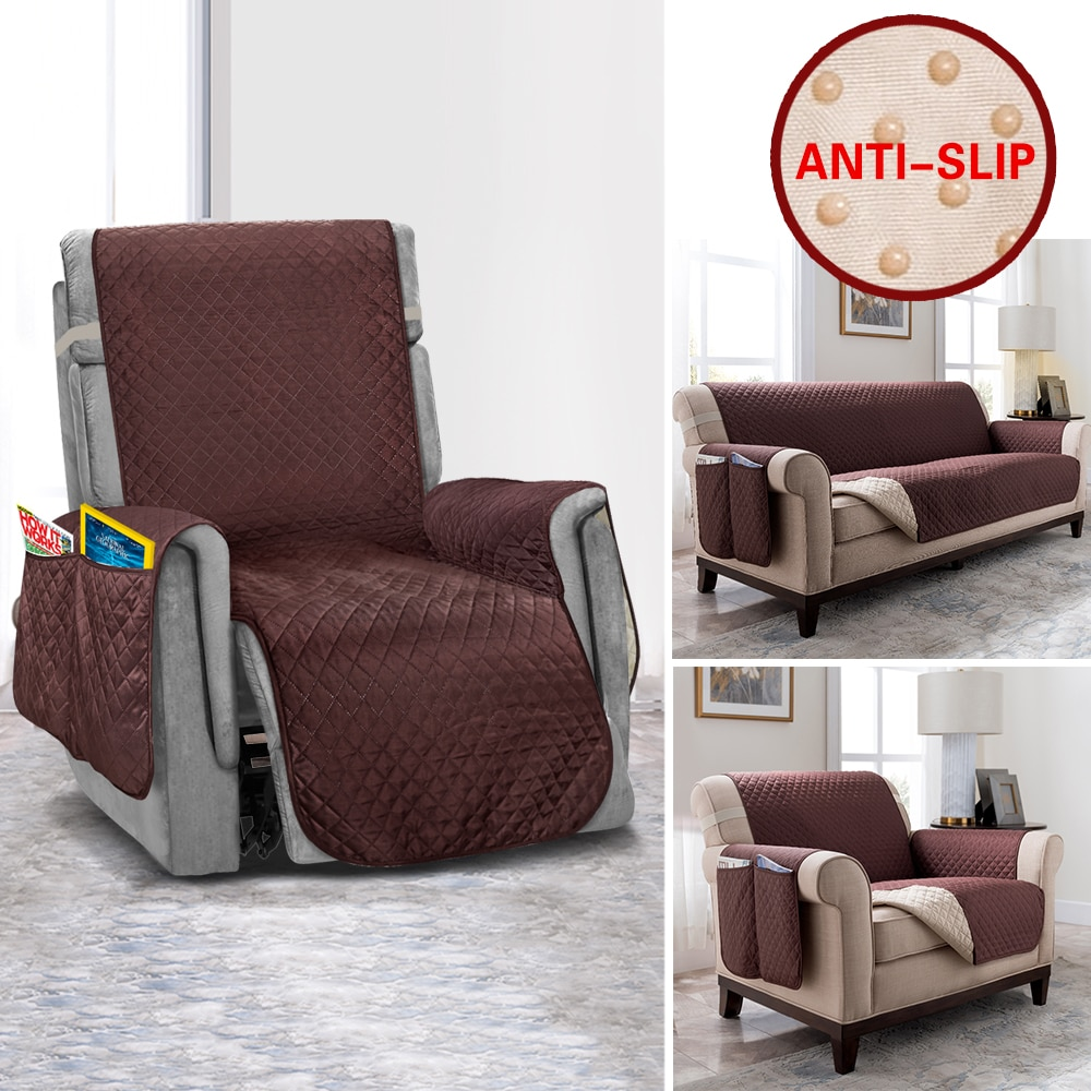 Sofá reclinable cubierta Anti-Slip sofá fundas para muebles de sala Protector para mascotas y niños sofá cubierta de sofá elástico fundas