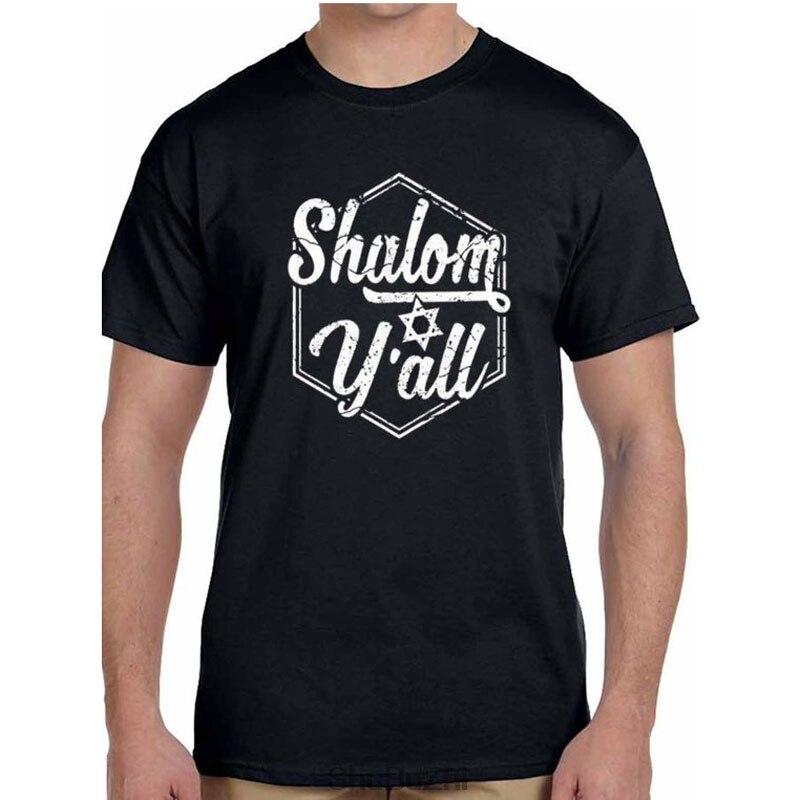 Drop verschiffen sommer heißer verkauf männer t-shirt Shalom Yall Lustige Jüdische Israel Weihnachten Geschenk Mens casual t shirt baumwolle kühlen t-shirt