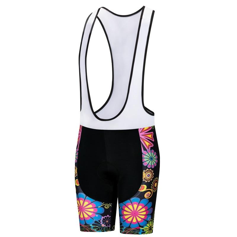 Weimostar-pantalones cortos con pechera para ciclismo para Mujer, Shorts acolchados con Gel...