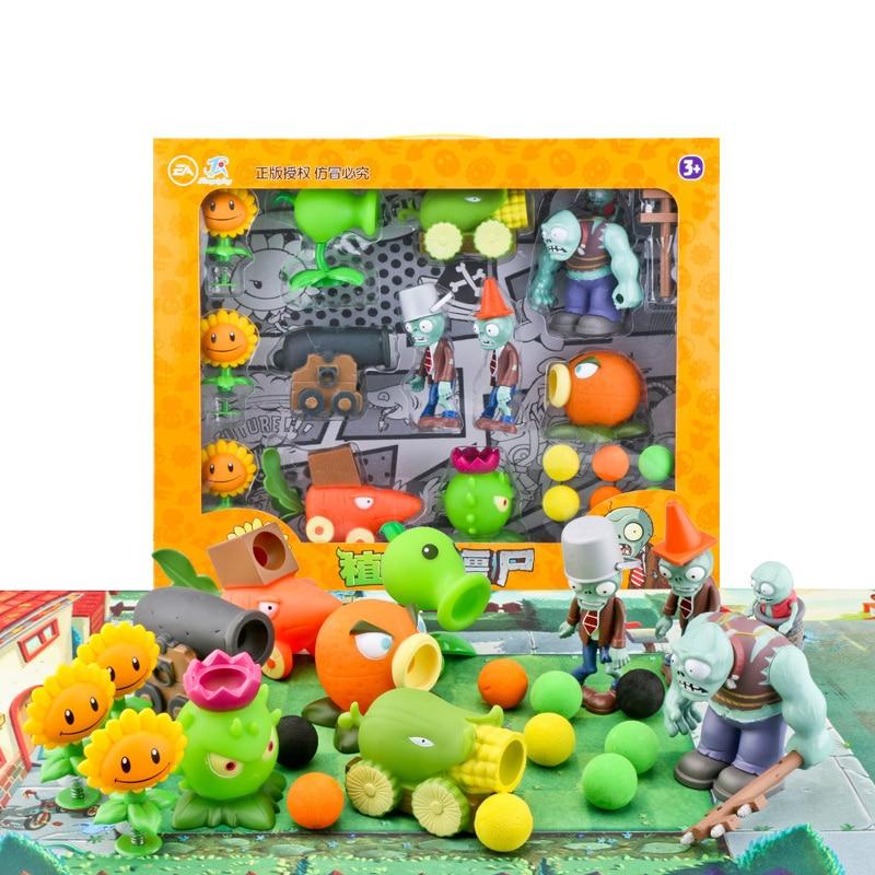 12pcs-lot-plants-vs-zombies-figure-toys-sunflower-cob-cannon-gargantuar-pea-ejection-game-toy-gift-for-kids-no-box