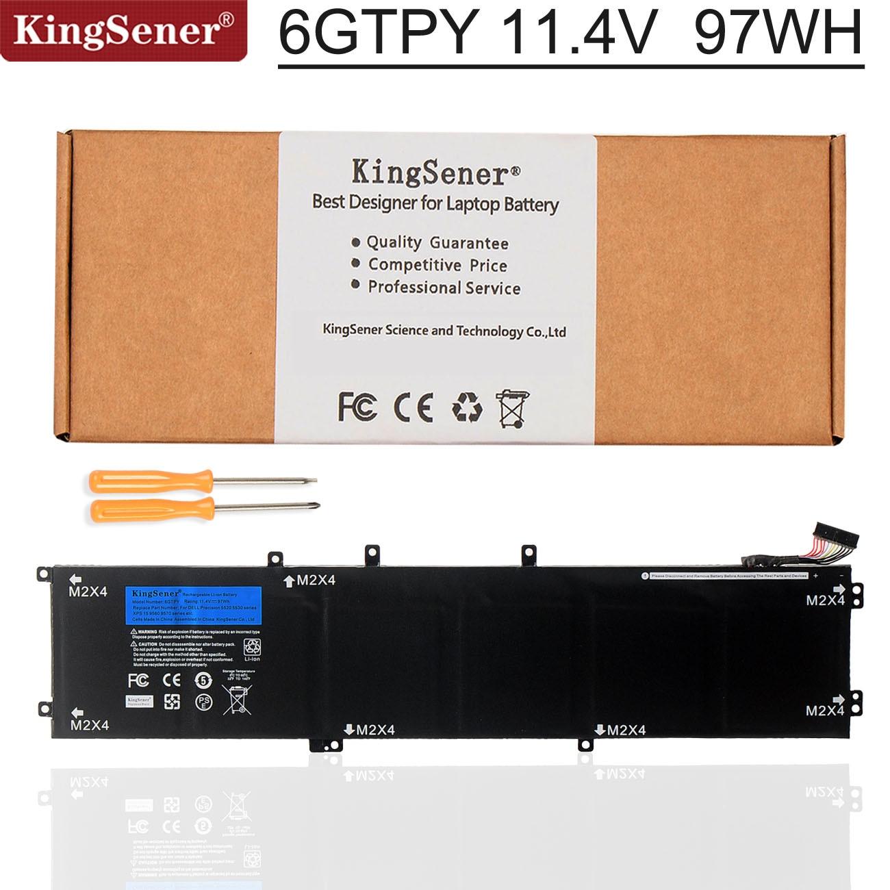 KingSener nuevo 11,4 V 97WH 6GTPY batería del ordenador portátil para DELL...
