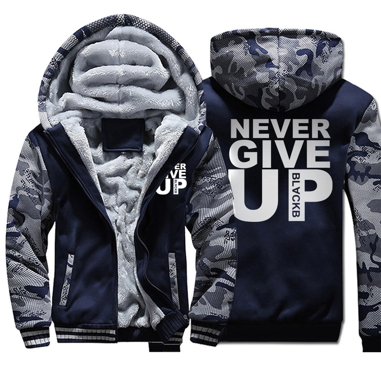 Мужская куртка с надписью «Never Give Up», пальто Salah Барселона, футбольная куртка премиум класса, уличная теплая зимняя повседневная верхняя оде...