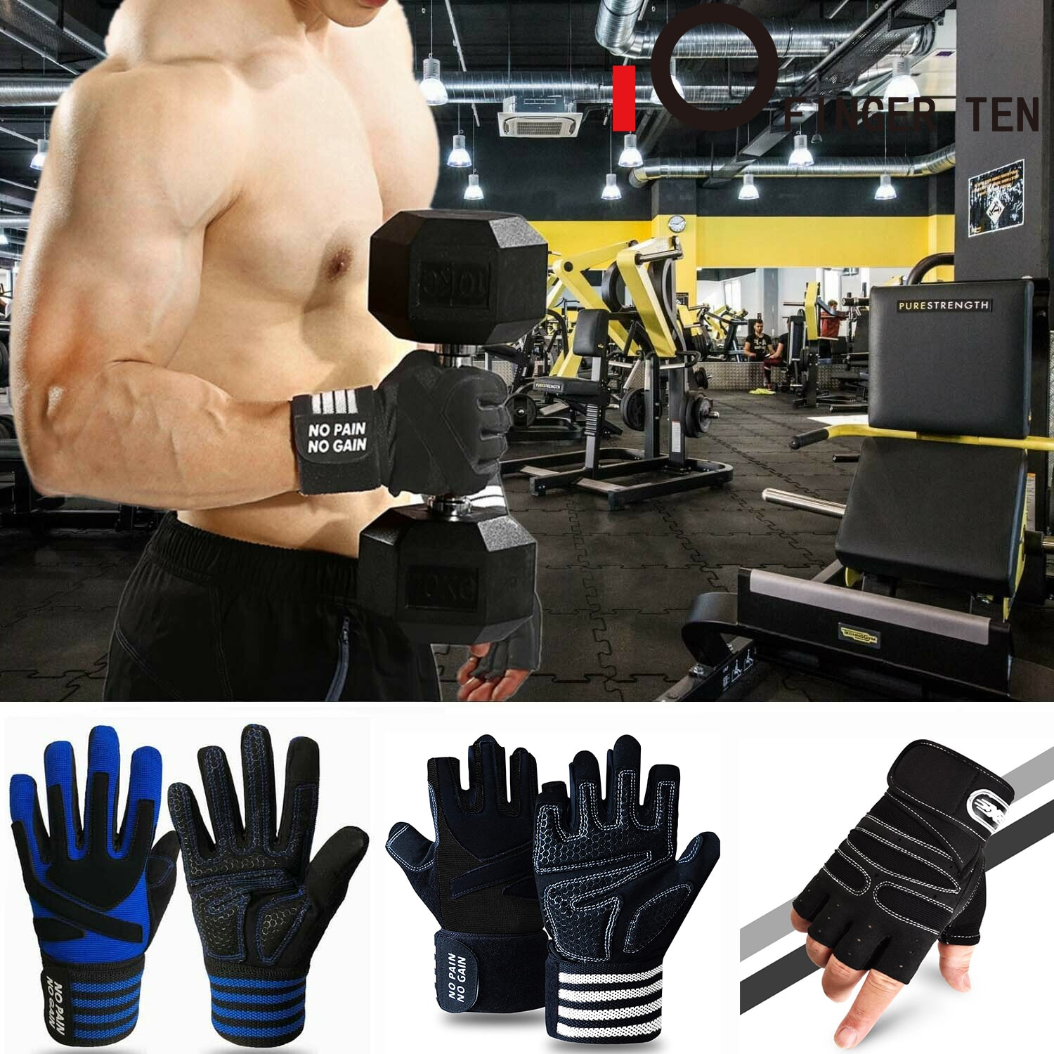 Sports Training Fitness Gloves Men Women Full Half Finger Weight Lifting Glove Wrist Support Protector Equipment Drop Shipping anti skid sports half finger care palms fitness gloves training dumbbell hand protector fitness equipment