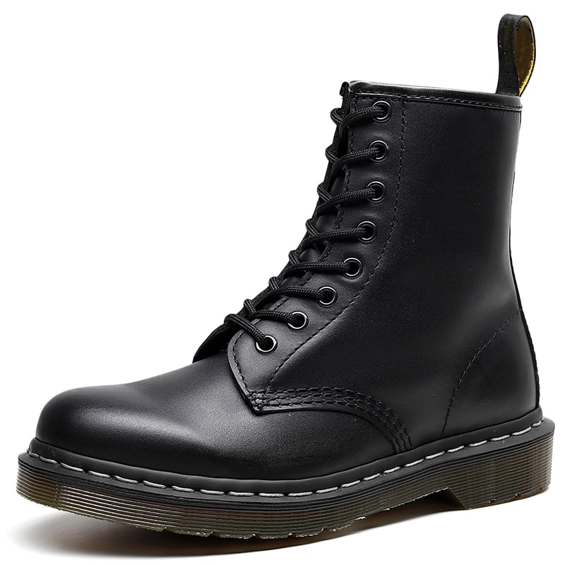 Martens Chunky Boots for Women Ladies Genuine Leather Ankle Boots Female Motorcycle Women Boots Big Size 35-46