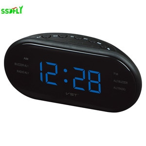 AM/FM Radio with Clock, three Kinds of LED Digital Clock Display, Automatic and Manual Channel Search Function