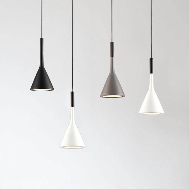 Nordic Minimalism E27 Aluminum Pendant Lights For Living Room Restaurant Dining Table Kitchen Bar Showcase Bedside Spotlight