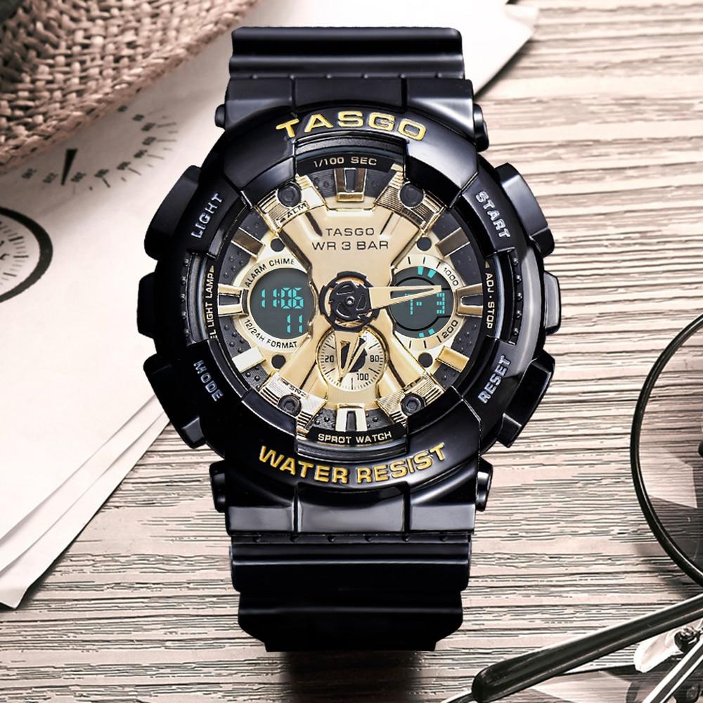 Men's Sport Digital Quartz Watch Hours Running Military Army Watches Top Brand New Multifunctional Wristwatch Timepiece