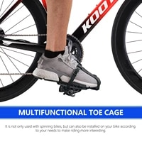 kootu rotating bicycle pedal dog mouth toe cage foot pedal adapter for look delta rotating bicycle pedal accessories