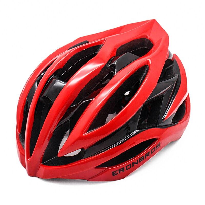 Casco aerodinámico de Ciclismo para hombre y mujer, triatlón rojo, Casco de...
