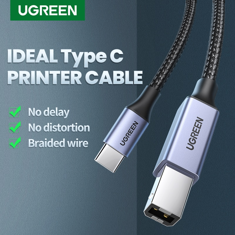 Ugreen USB C to USB Type B 2.0 Cable for New MacBook Pro HP Canon Brother Epson Dell Samsung Printer
