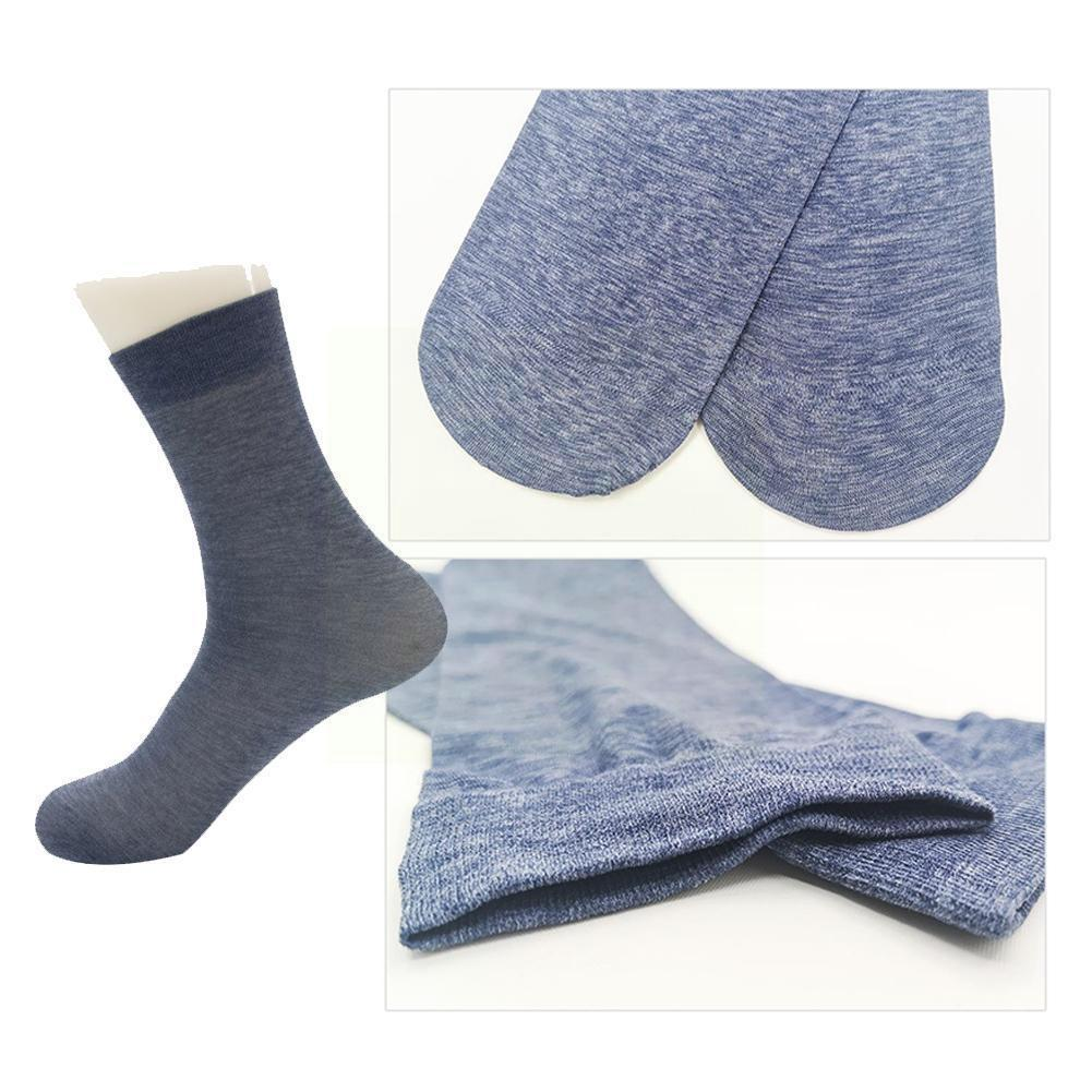 Socks Men's Stockings Men's Socks Spring And Summer Thin Business The Section Color Simple Cotton Tube Pure