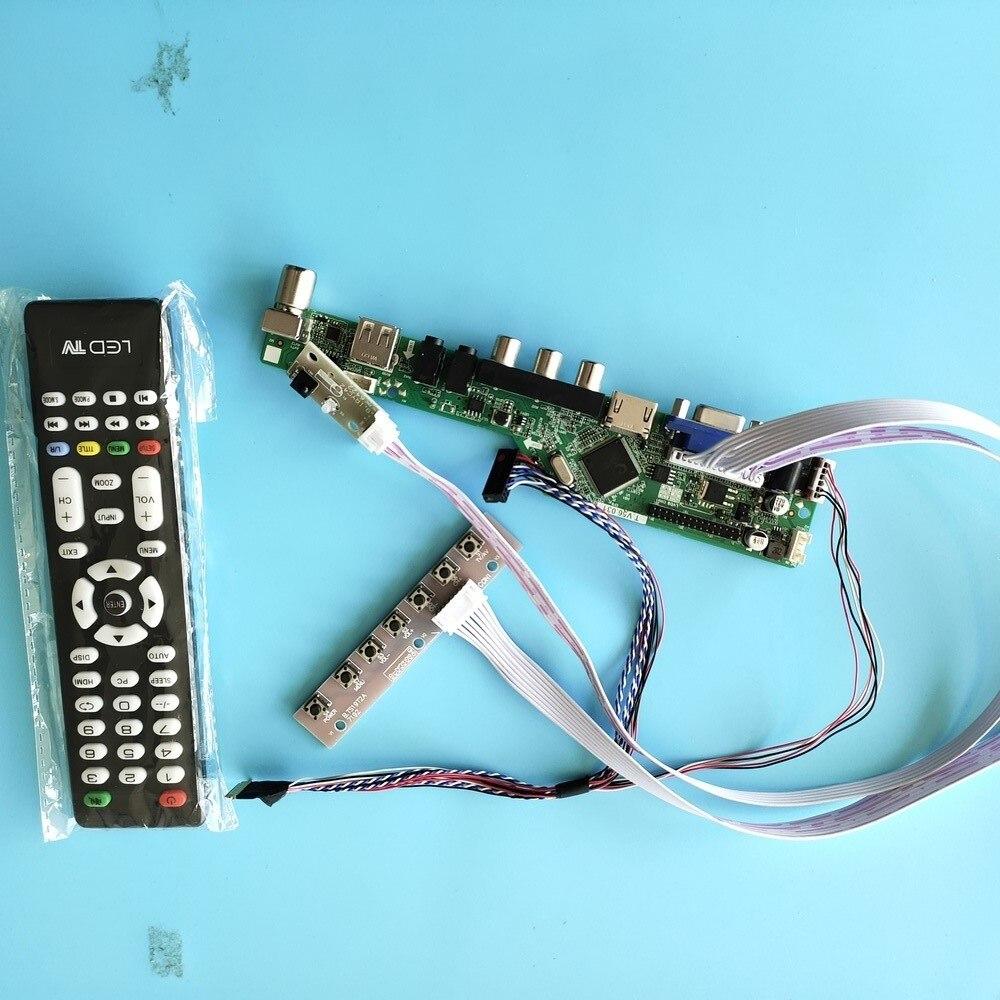 كيت ل N184H6-L02/L01 الصوت LED HDMI 1920x1080 عن VGA USB LVDS التلفزيون AV 40pin عرض تحكم مجلس لوحة شاشة رصد