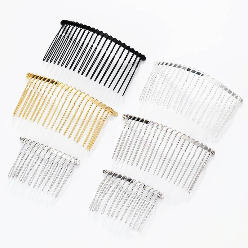 AliExpress - 10Pcs/lot 12/15/20 Teeth Metal Twisted Wire Hair Comb Base for Diy Hair Comb Clip Handmade Bridal Hair Jewelry Accessories