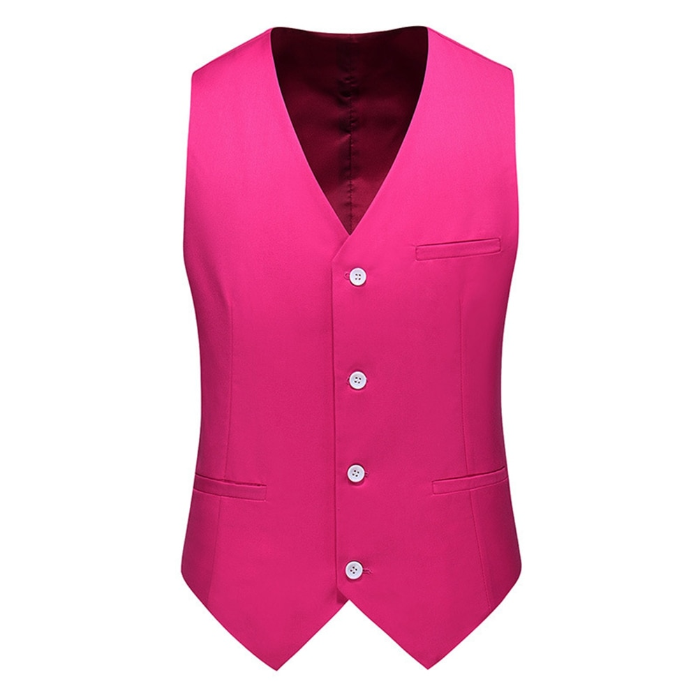 Vest Men 2020 New Fashion Casual High Quality Solid Color Single Breasted Slim Large Size  Business Vest Waistcoat Men
