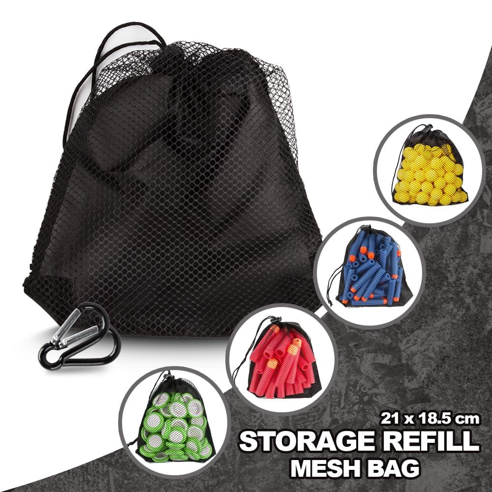 Bolsa de malla de repuesto de almacenamiento para pistola Nerf, para n-strike...