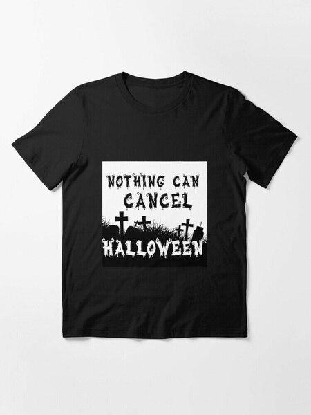 Camiseta negra de halloween para hombre, camiseta de cualquier tamaño