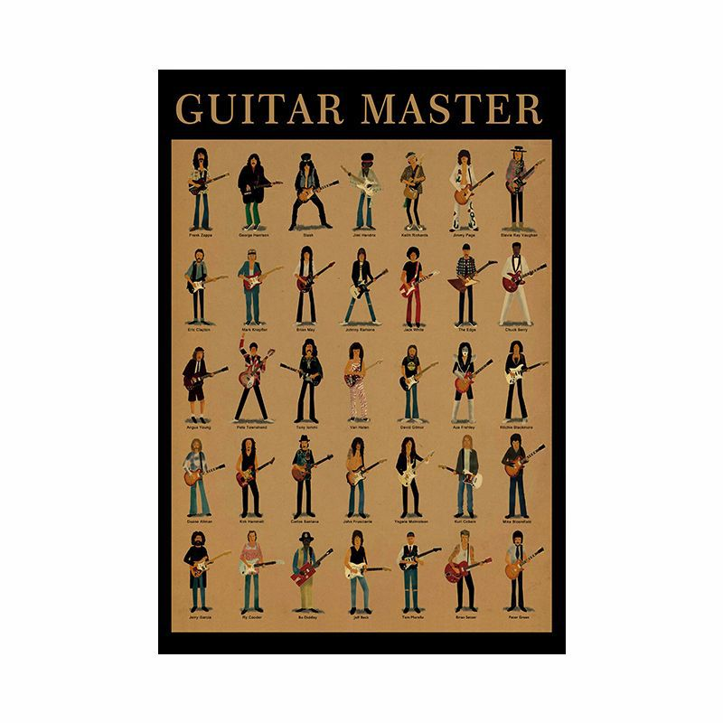 Guitar master kraft poster pictures on the wall home decoration wall stickers