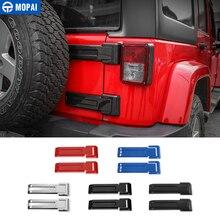 MOPAI ABS voiture extérieur arrière pneu de secours hayon porte charnière décoration couverture autocollants pour Jeep Wrangler JK 2007 Up voiture style