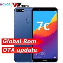 Original Honor 7C 3GB 32GB Gesicht ID 5,99 inch Snapdragon 450 Octa Core Vorne 8,0 MP Dual Hinten kamera 3000mAh