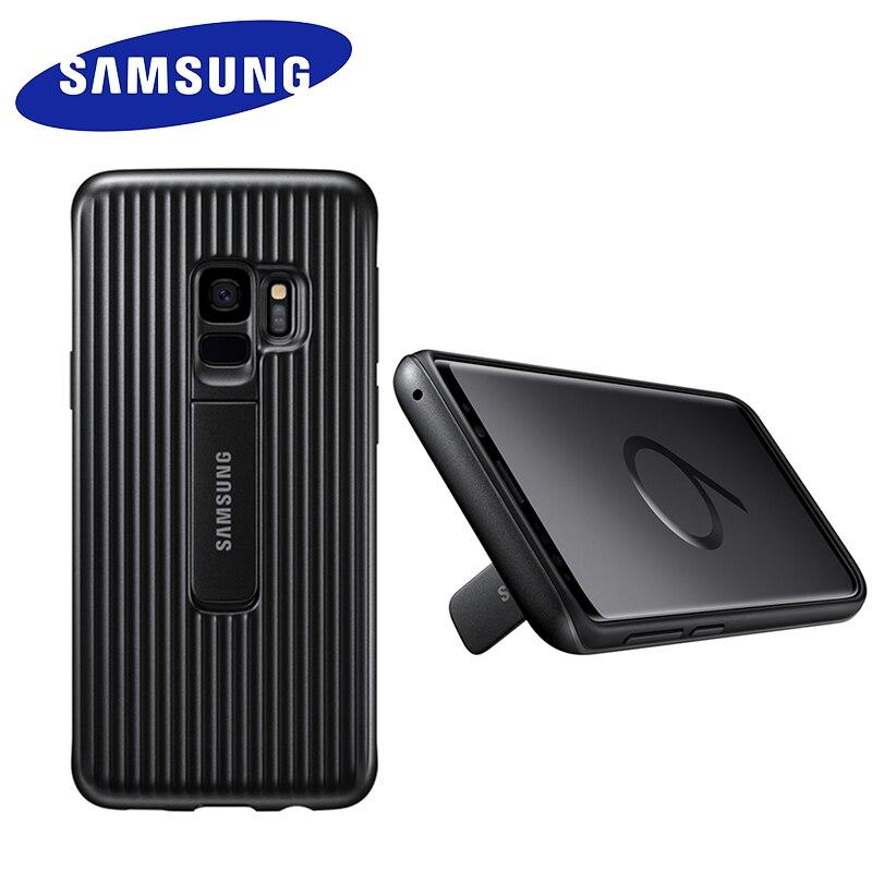 Samsung Galaxy S9 S9 + S9 plus sm-g960 G965 Plus, funda de teléfono de pie, cubierta de protección del dispositivo definitivo con logotipo
