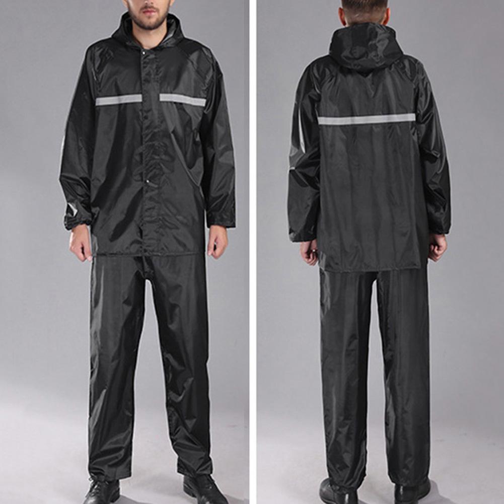 Impermeable para hombre conjunto impermeable a prueba de viento reflectante con capucha pantalones de lluvia para adultos ciclismo al aire libre ropa para la lluvia motocicleta