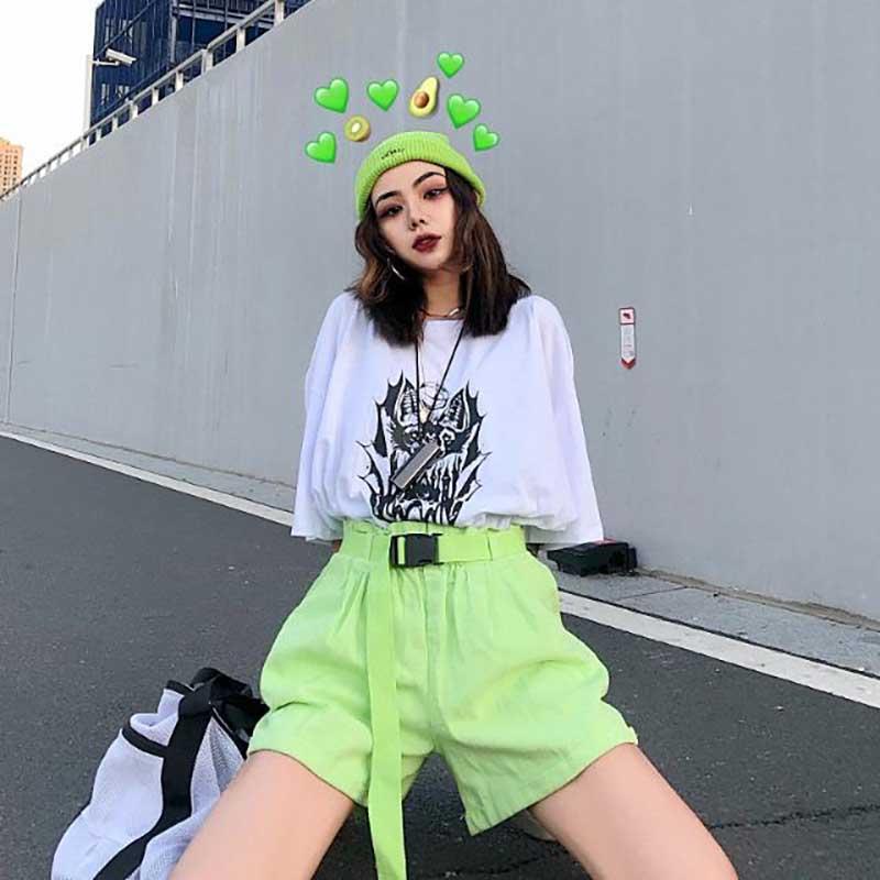 NiceMix 2020 ladies fashion loose high waist wide leg five points trousers