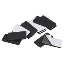 uxcell Furniture Pads 40mm x 20mm Adhesive Felt Pads 3mm Thick Black 16Pcs