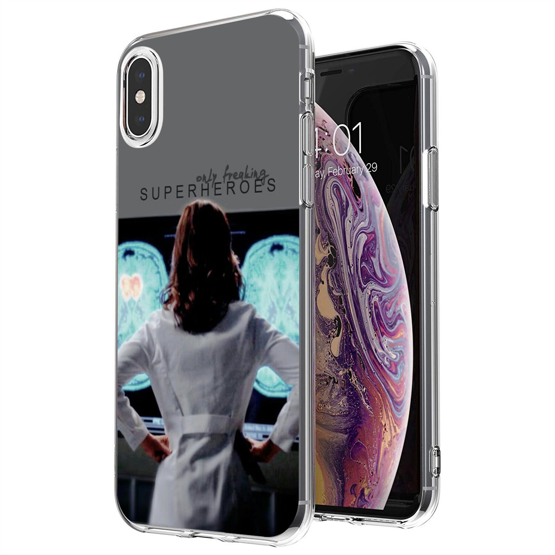 Para Xiaomi Redmi 4A 7A S2 Nota 8 3S 3S 4 4X 5 Plus 6 7 6A Pro teléfono móvil F1 Grey Anatomía de la caja del teléfono de silicona