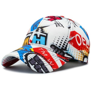 Women Men Letter Graffiti Hip Hop Cotton Ladies Face Caps Daily Outdoor Soprt Cappellino Baseball Cap Snapback Hat