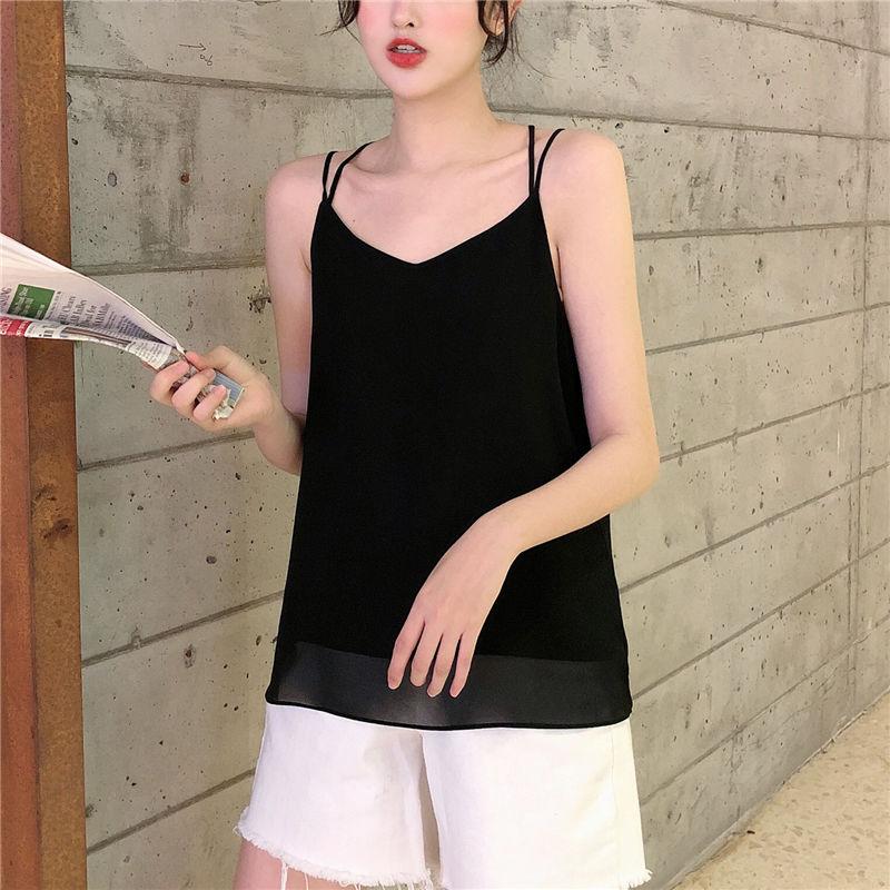 Camisola de chifón sin espalda de marca de moda para mujer, camisetas sin mangas cruzadas de verano 2020, camisetas sexis ajustadas para mujer, color rosa/blanco