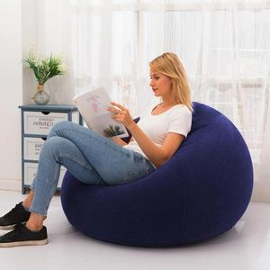 Bean Shape Inflatable Chair Inflatable Sofa For Home Outdoor Leisure Entertainment