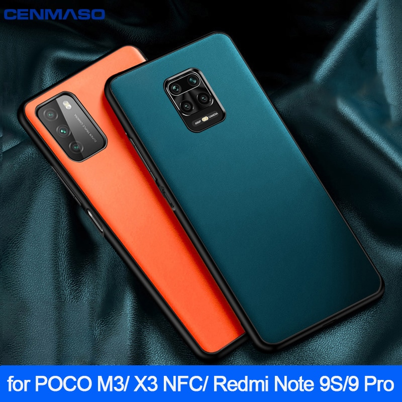 For POCO M3 X3 NFC Redmi Note 9S 9 Pro 8 8T 9A Case Luxury Leather Protection Cover for Xiaomi Mi 11