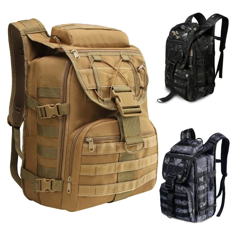 Военный Рюкзак, армейский тактический рюкзак с системой «Молле», мужской рюкзак для путешествий, спорта, кемпинга, пешего туризма, рыбалки, ...