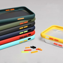 Dual Color Matte Case For Huawei P Smart Z Nova 5T 7i P20 P30 P40 Lite E Y7P Honor 9A 9X 20 20s Cover PC + Soft TPU Capa
