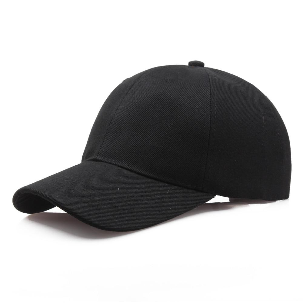 Black Cap Solid Color Baseball Cap Snapback Caps Casquette Hats Fitted Casual Gorras Hip Hop Dad Hat