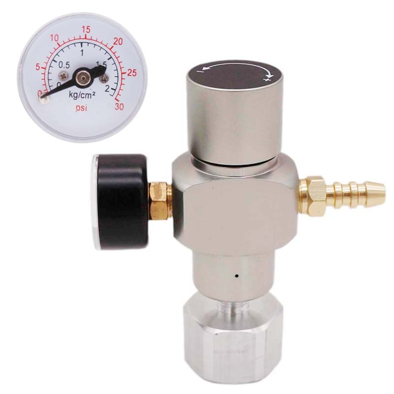 2 en 1 Sodastream CO2 Mini regulador de Gas CO2 cargador TR21 * 4 0-30 PSI Kegerator de cerveza de flujo de Soda europeo