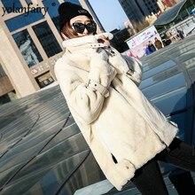 Manteau de fourrure véritable femmes mouton Shearling hiver Manteau femmes coréen naturel laine veste pour femmes vêtements Manteau Femme YY843