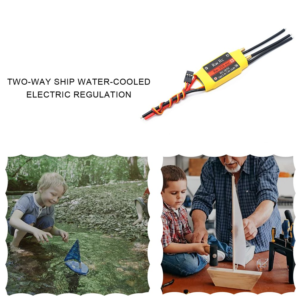 Two-way Ship Water-cooled Electric Regulation Remote Control Boat Accessory ESC Brushless Speed Controller enlarge