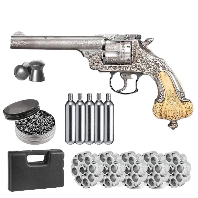 Пневматический пистолет Anaconda 357 из металлического сплава, пуля с двуокисью углерода и свинцовая пуля, украшение для дома, металлическое укр...