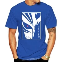 anime hollow mask t shirt men graphic bleach ichigo kurosaki graphic print free shipping tshirt
