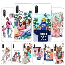 Coque de téléphone bébé Super maman fille garçon papa pour Xiaomi Redmi Note 8T 9S 9A 8A 7 7A 6 6A MI 10 9 8 CC9 Pro Lite Coque de luxe