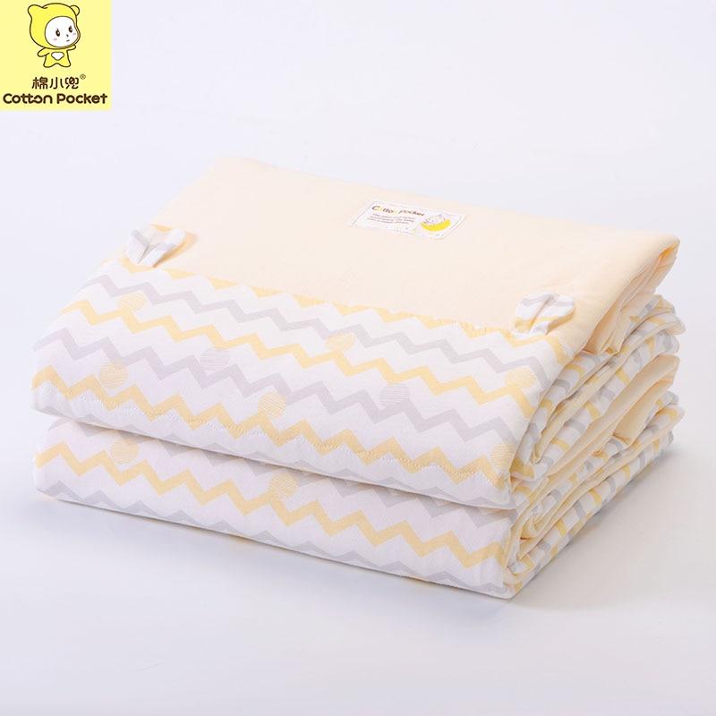 Winter Warm Soft Cotton Baby Comforter Blanket Cartoon Striped Children's Quilt 110x140cm